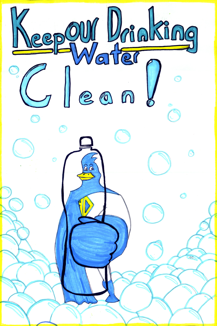 Clean Drinking Water �... Water Pollution Poster In Hindi
